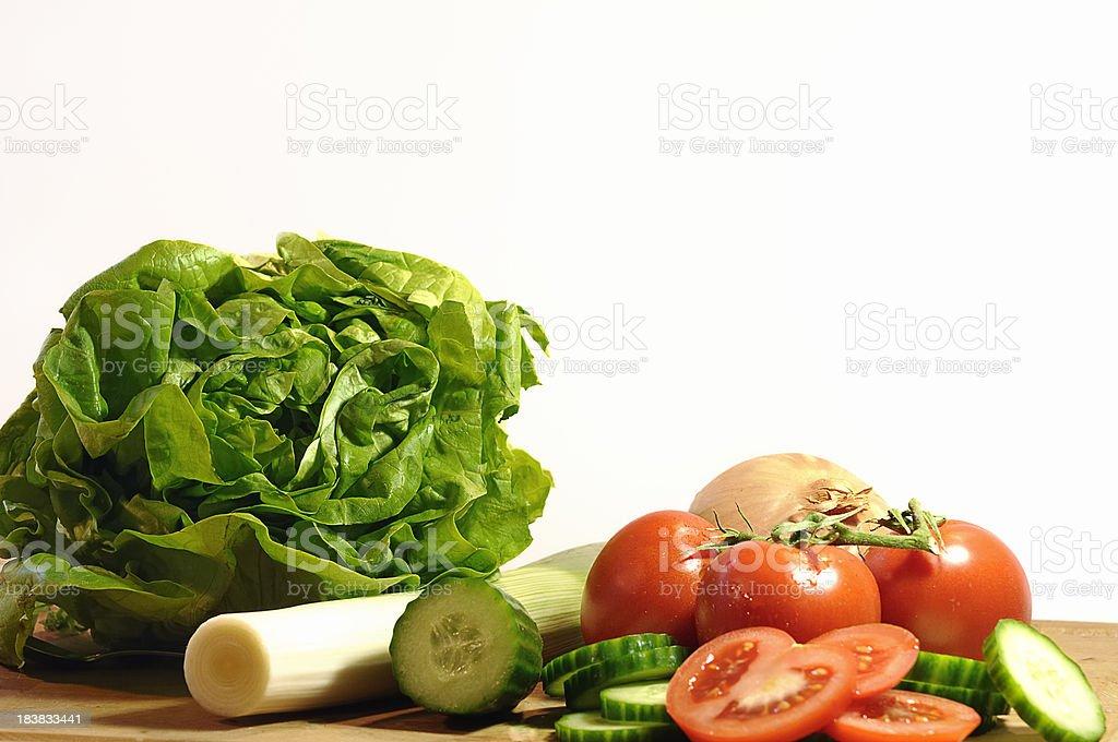 Salad ingredients stock photo
