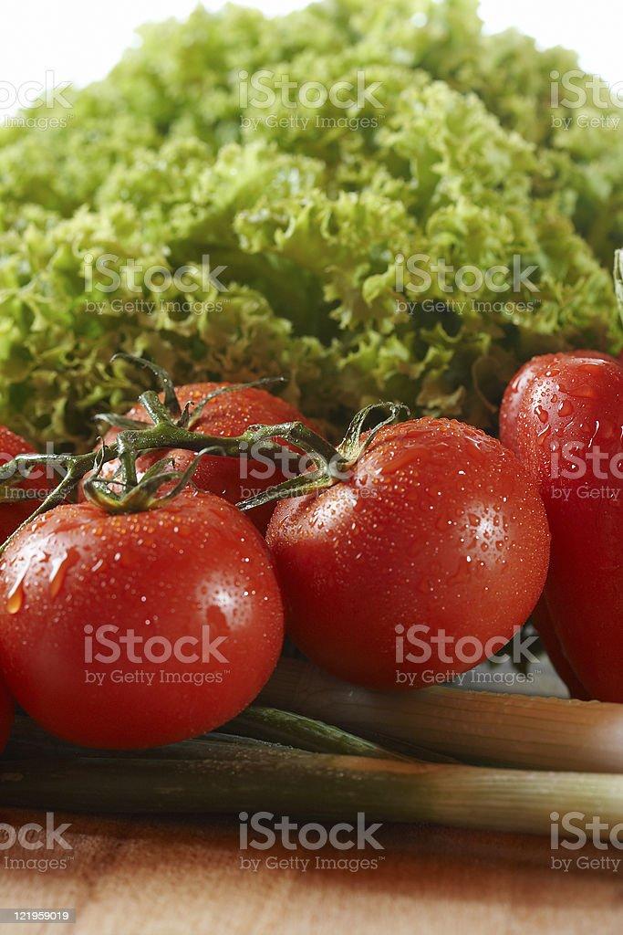 Salad isolated on white stock photo