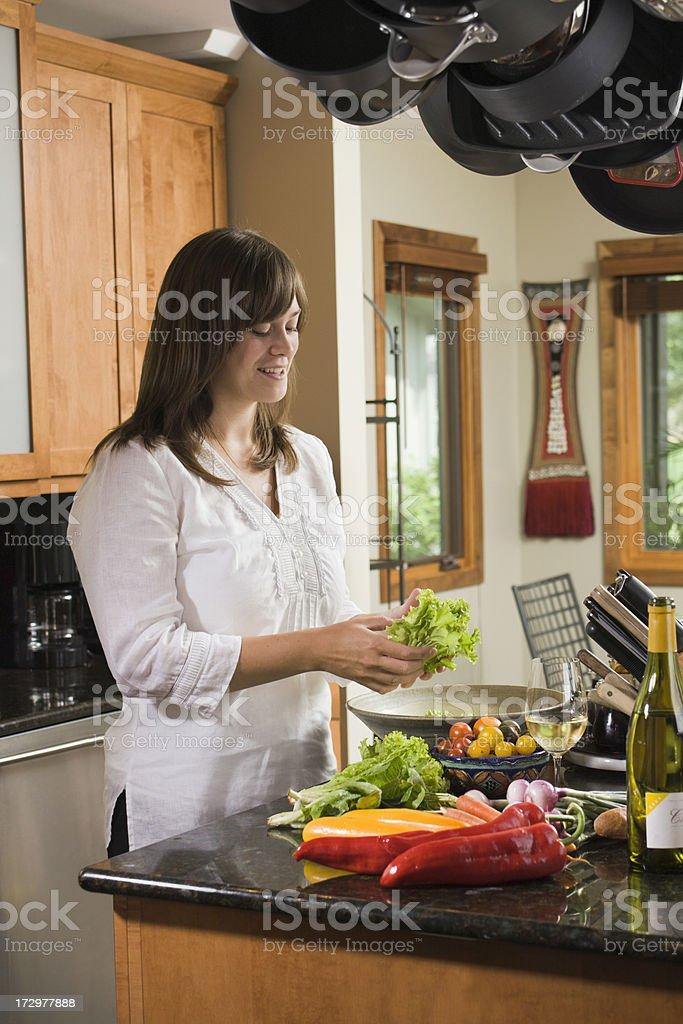 Salad Making royalty-free stock photo