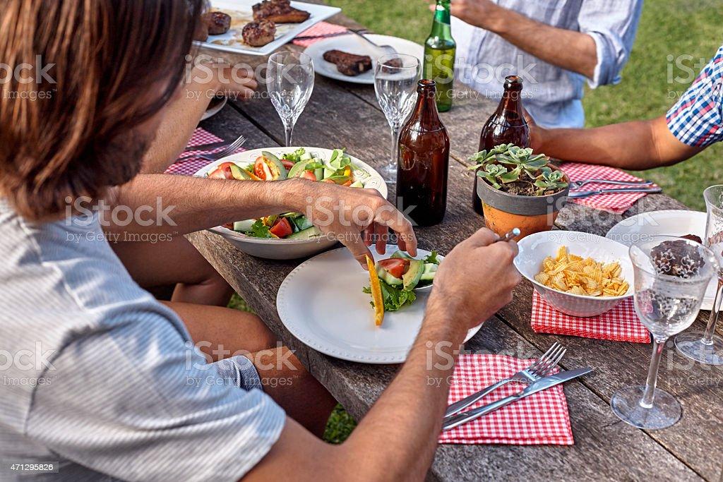 salad man dish stock photo