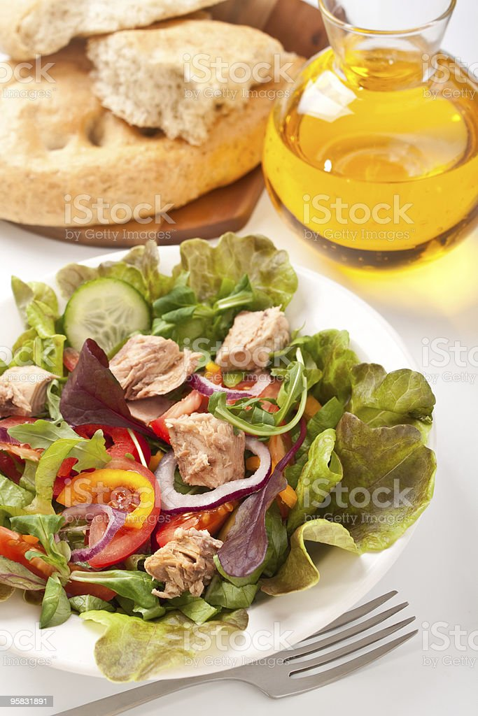 salad mix with tuna royalty-free stock photo