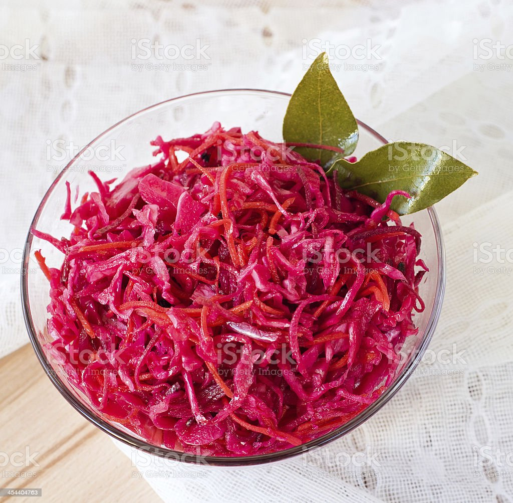 salad of cabbage and beets royalty-free stock photo
