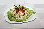 Salad of marinated mushrooms