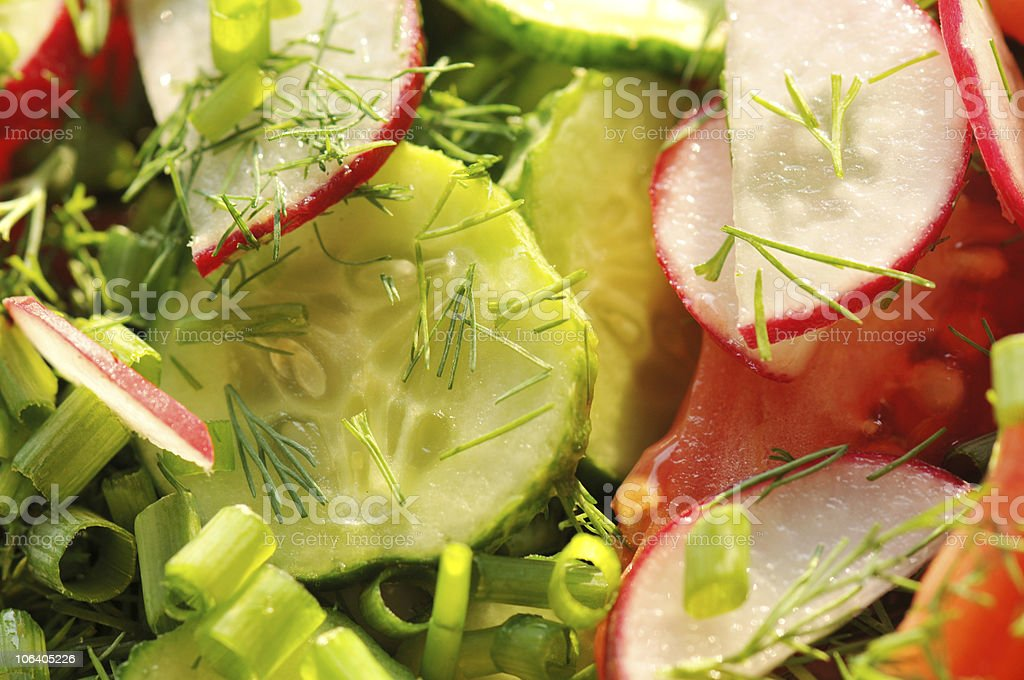 salad of raw vegetables royalty-free stock photo