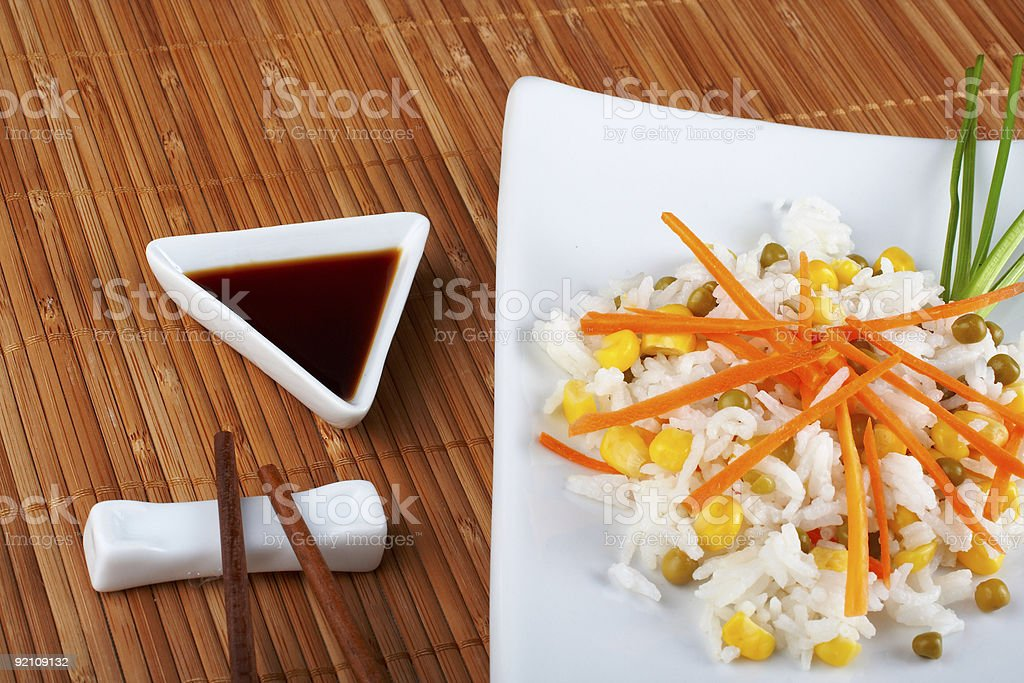 Salad of rice royalty-free stock photo