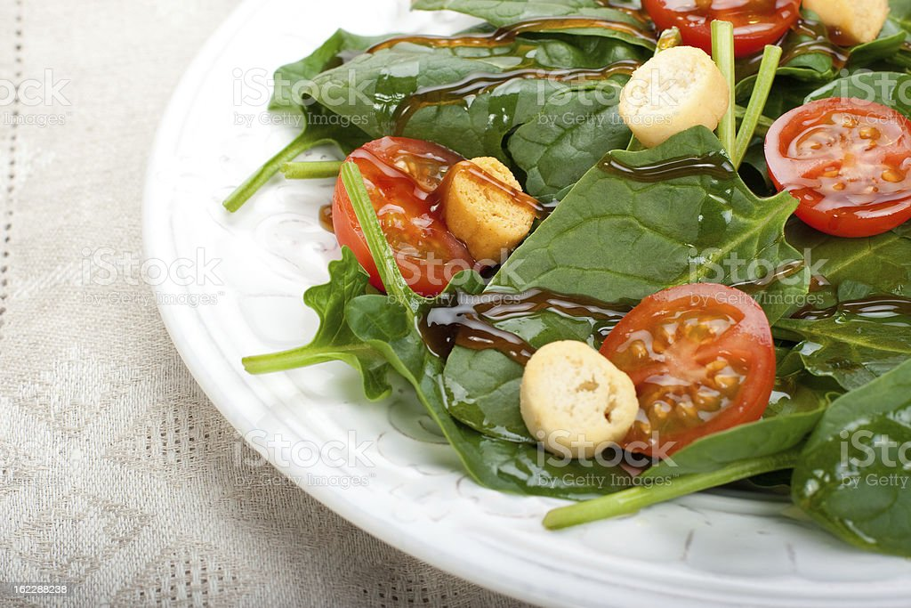 Salad of spinach royalty-free stock photo