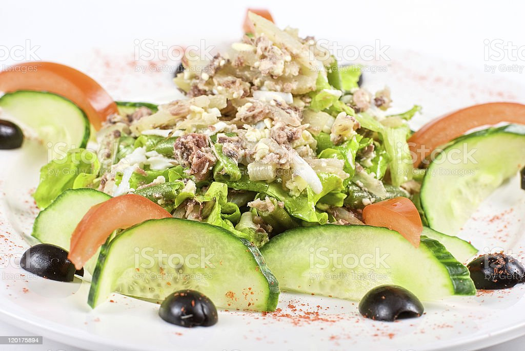 Salad of tuna fish royalty-free stock photo
