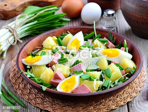 Салат из вареная картошка яйца