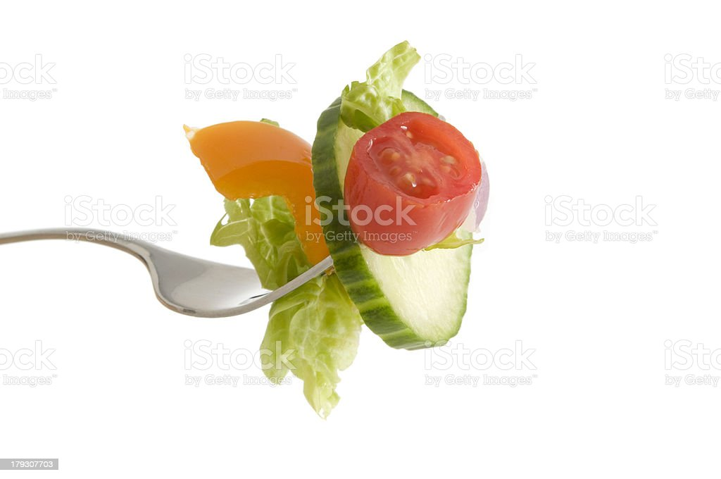 Salad on a Fork royalty-free stock photo