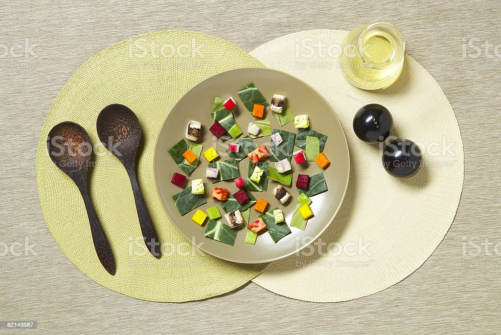 salad on plate stock photo