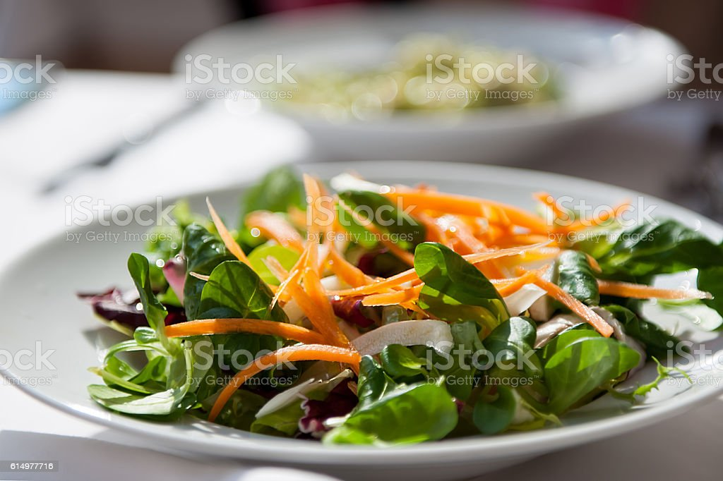 Salad on the table stock photo
