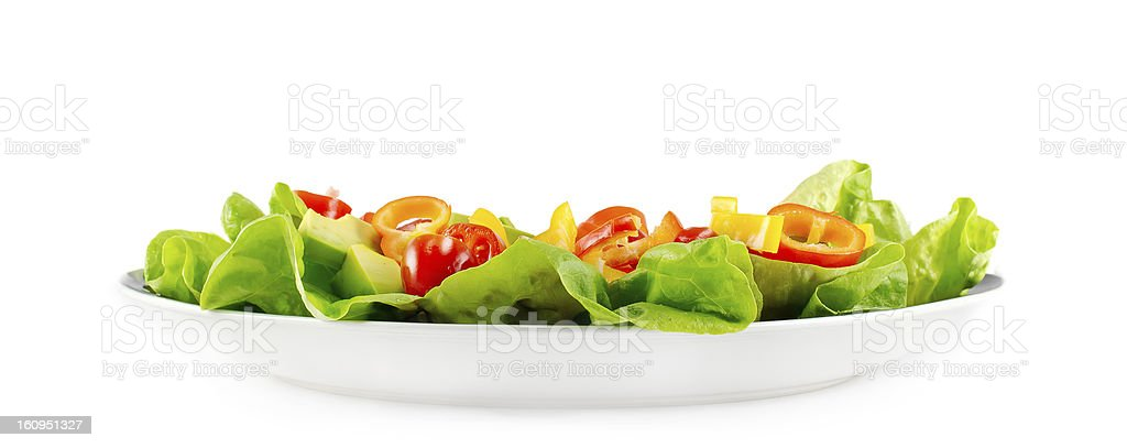Salad On White Plate royalty-free stock photo