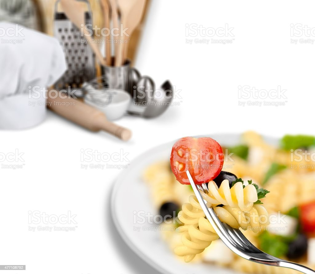Salad, Pasta, Pasta Salad stock photo