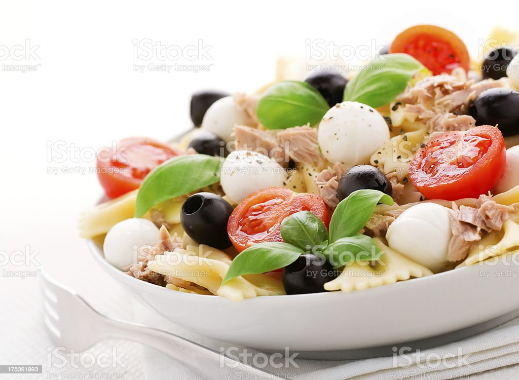Salad Pasta stock photo