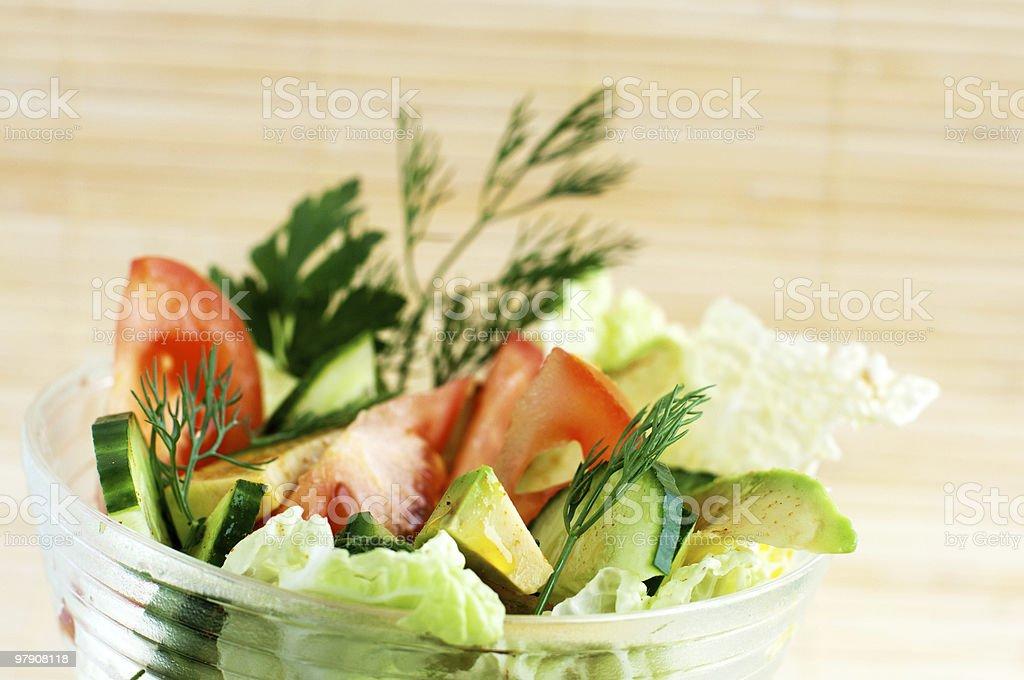 Salade composée photo libre de droits