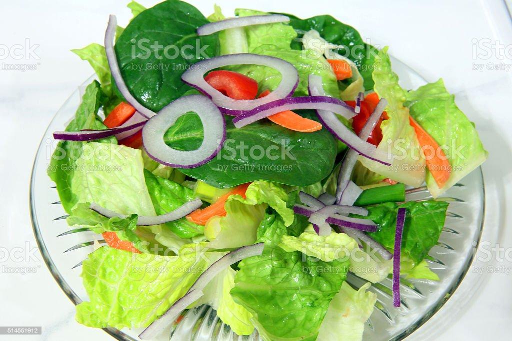 salad plate closeup stock photo