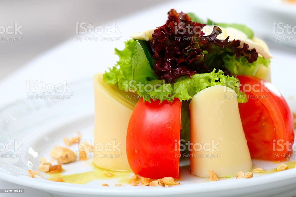 Salad plate detail royalty-free stock photo