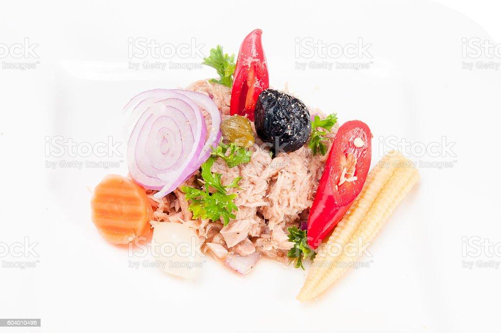 Salatteller stock photo