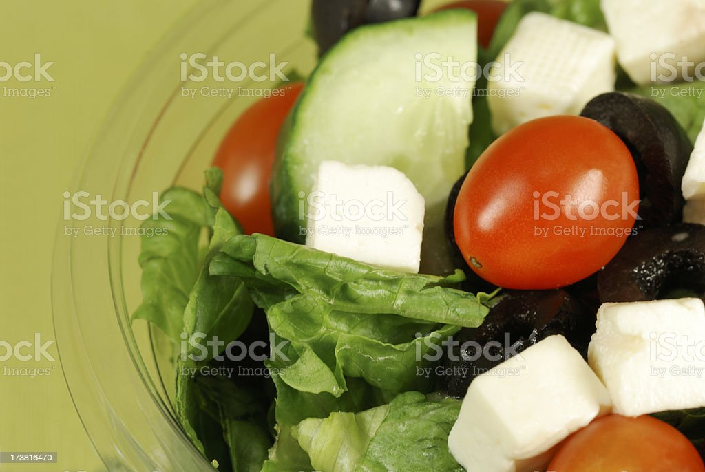 Salad ready to take-out. royalty-free stock photo