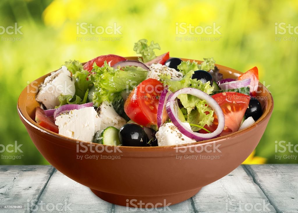 Salad. Salad Stills: Greek stock photo