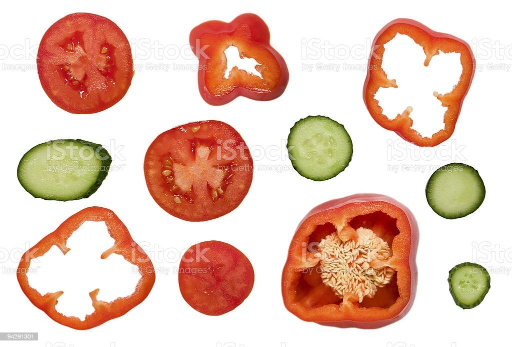 Salad set royalty-free stock photo
