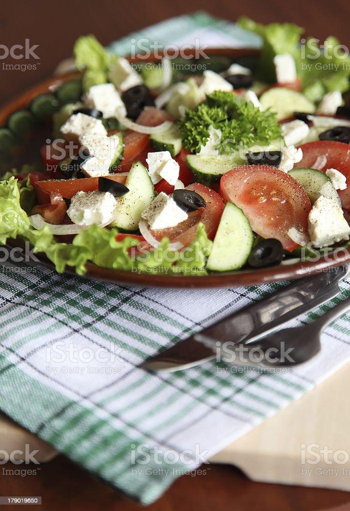 Salad Stills: Greek royalty-free stock photo
