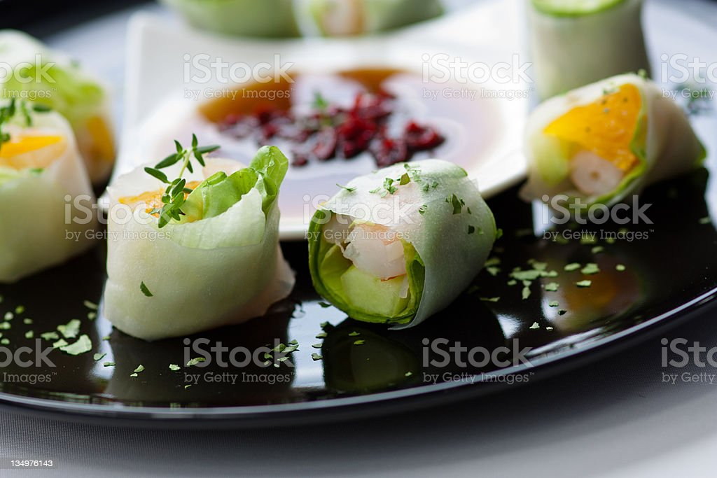 Salad sushi royalty-free stock photo