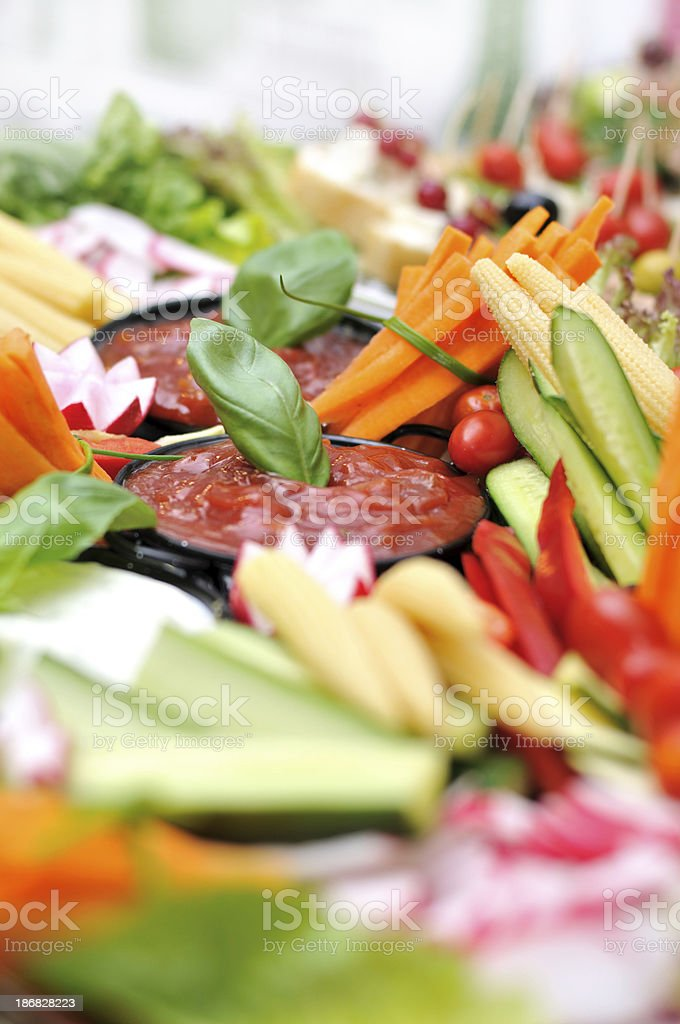 Salad Tray royalty-free stock photo