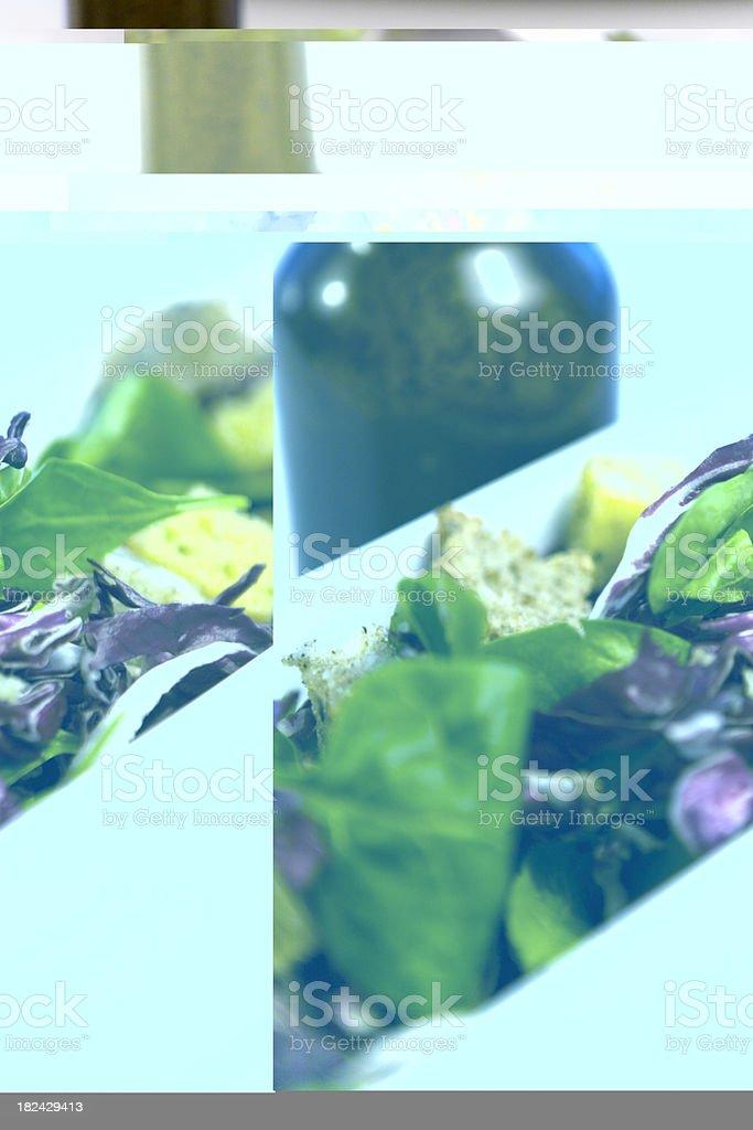 Salad w. Bottle royalty-free stock photo
