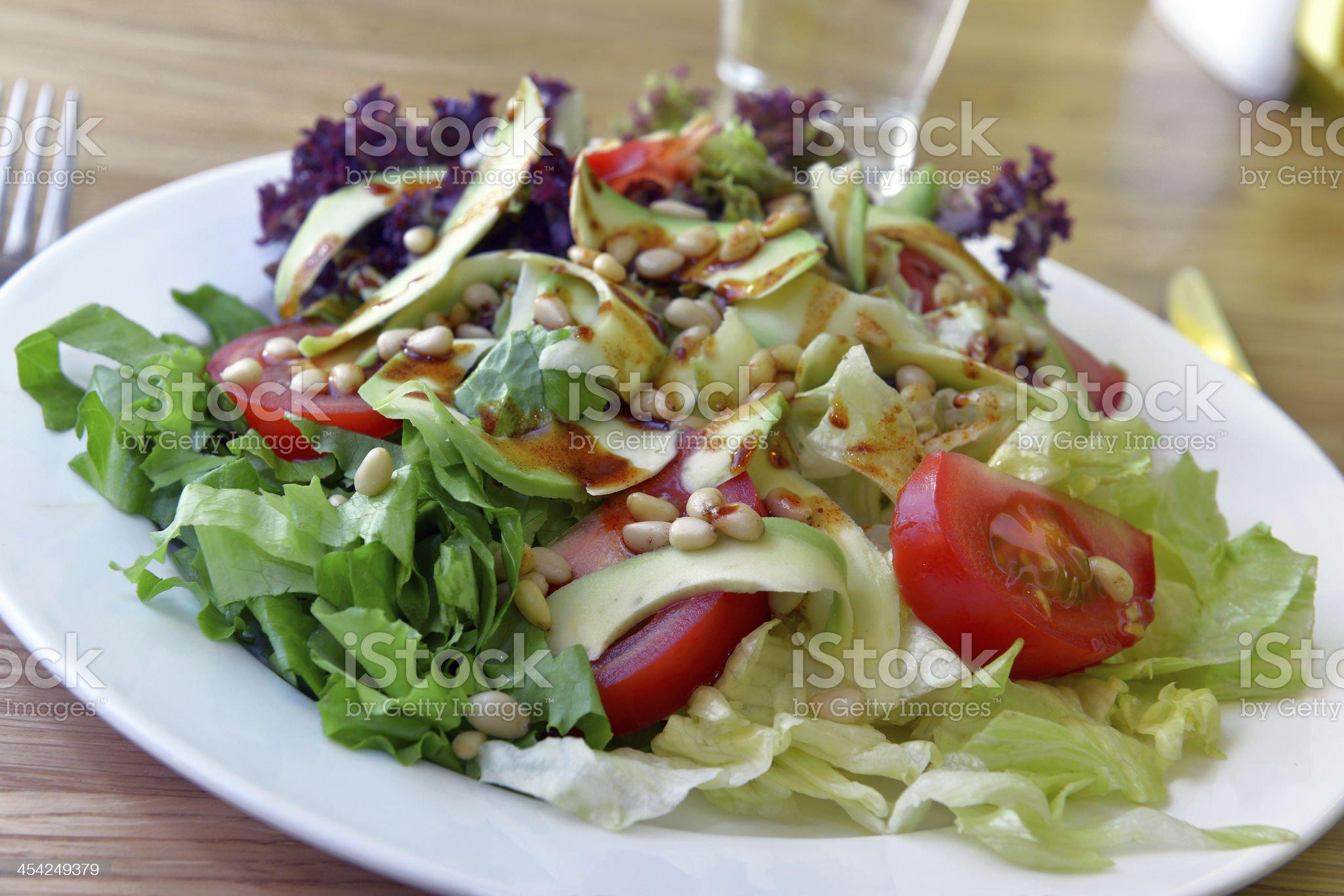 salad with avocado royalty-free stock photo