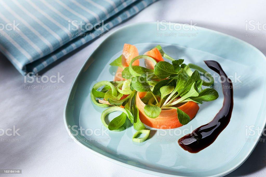 Salad with balsamic vinegar royalty-free stock photo