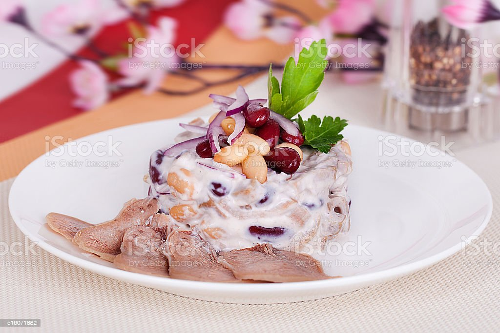 salad with beans stock photo