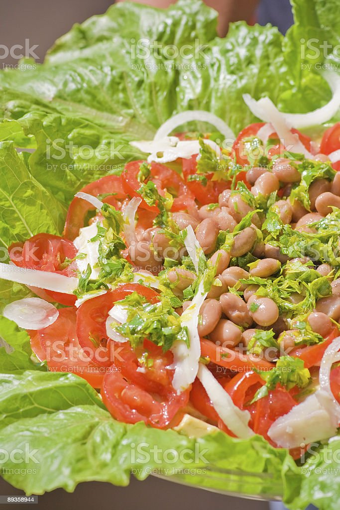 Salad with beans royalty-free stock photo
