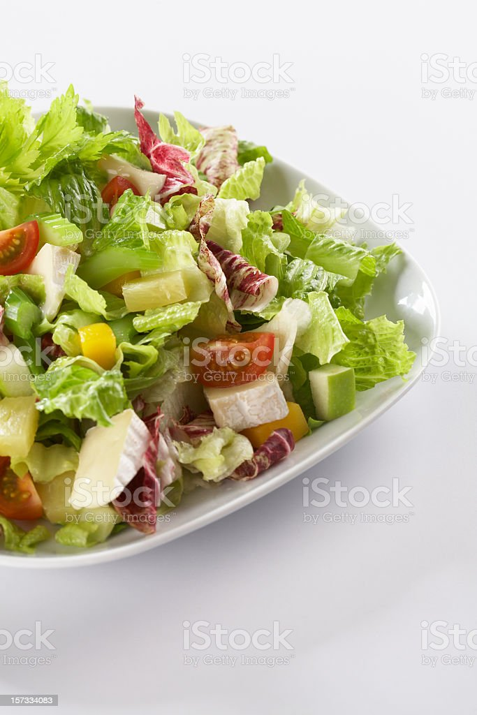 Salad with cheese 1 stock photo