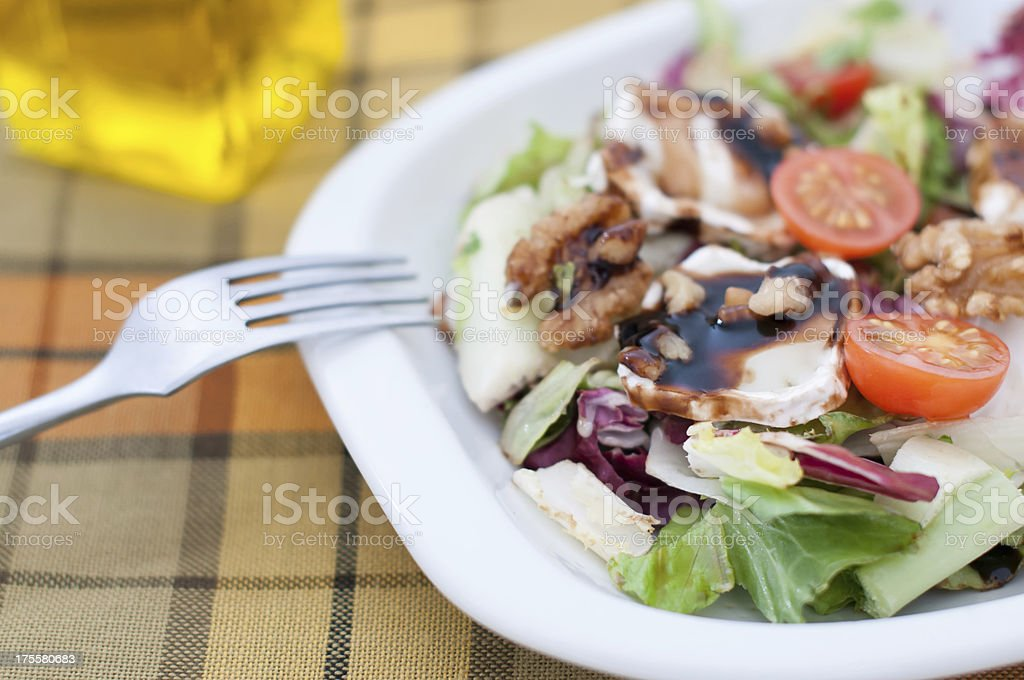 Salad with cheese royalty-free stock photo