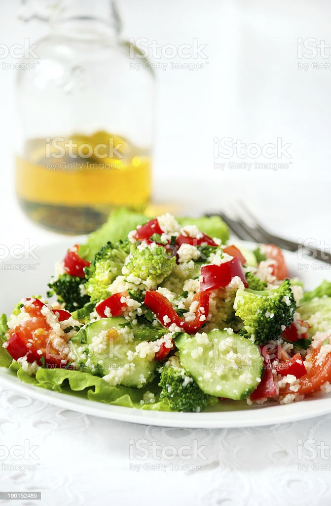 salad with couscous royalty-free stock photo