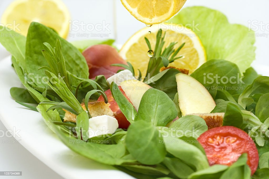 Salad with croutons royalty-free stock photo