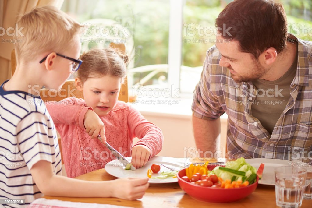 salad with dad stock photo