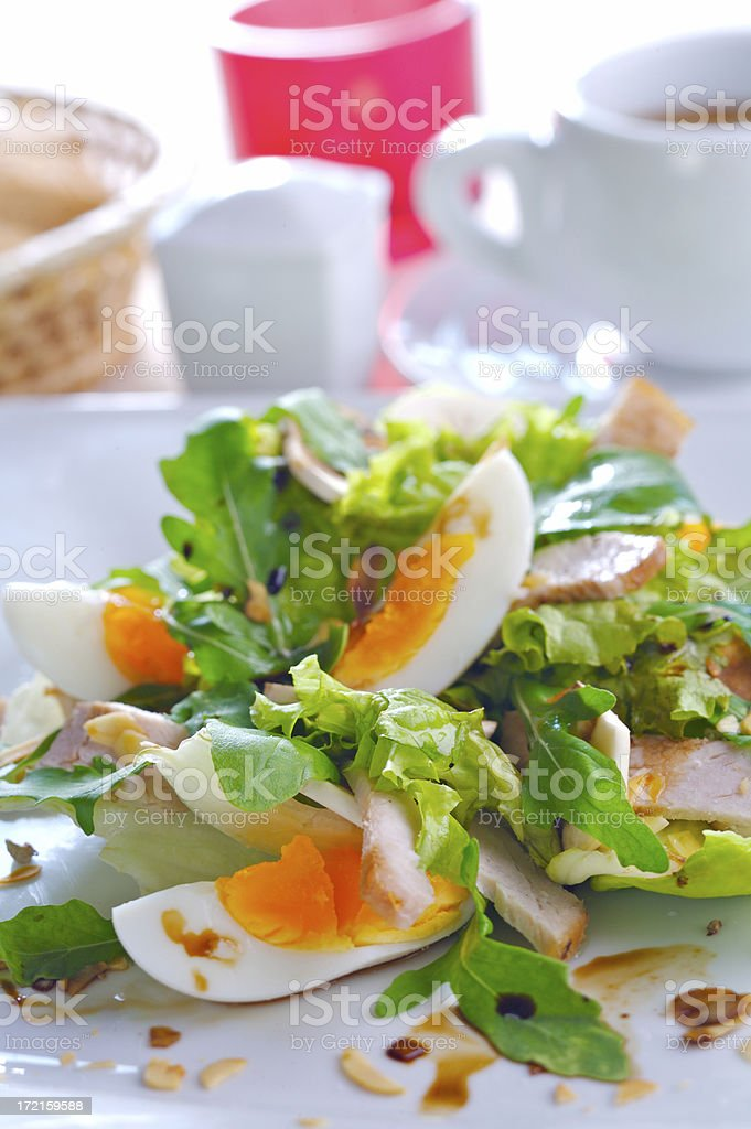 Salad with egg royalty-free stock photo