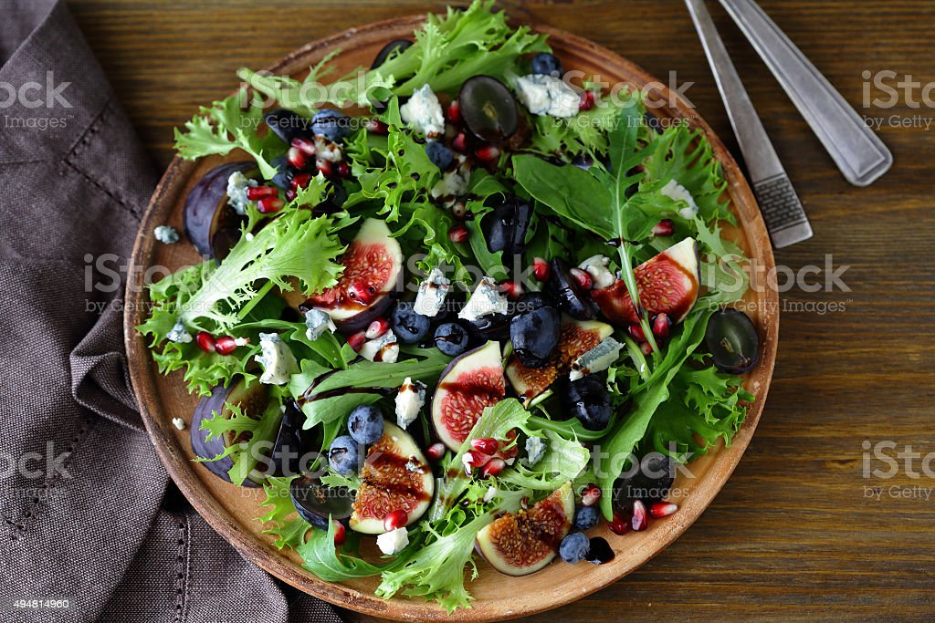 salad with figs stock photo