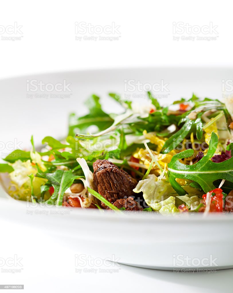 Salad with Meat royalty-free stock photo