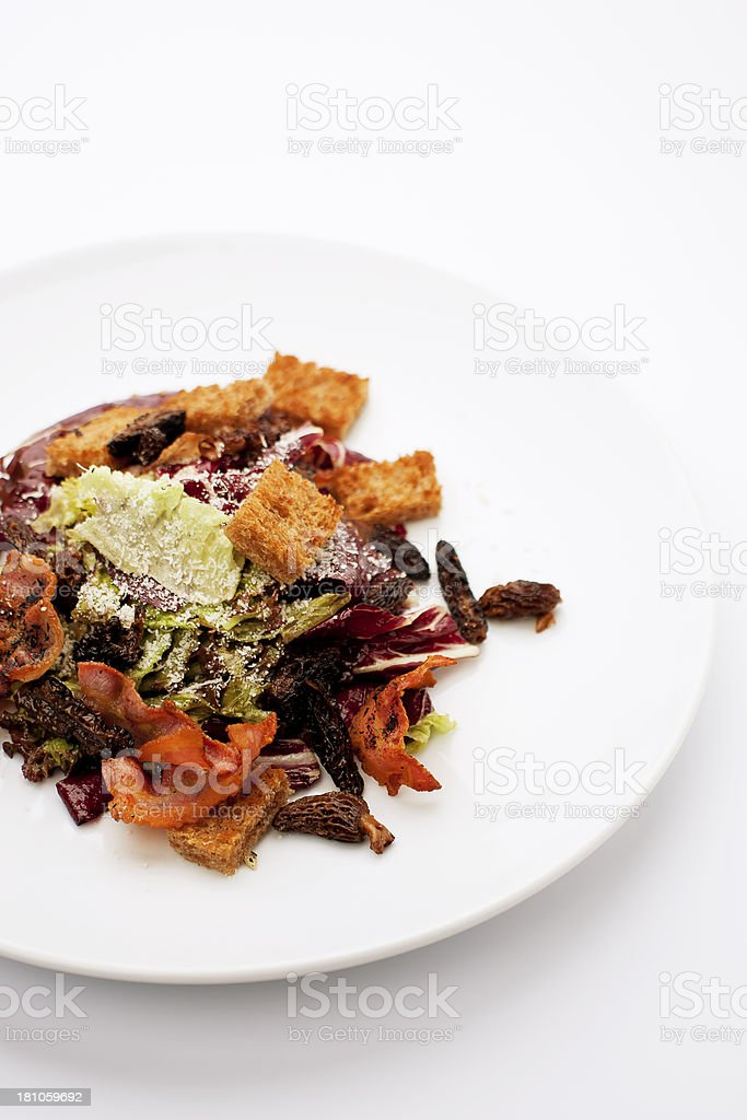 salad with morels royalty-free stock photo