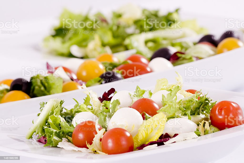 salad with mozzarella and tomatoes royalty-free stock photo