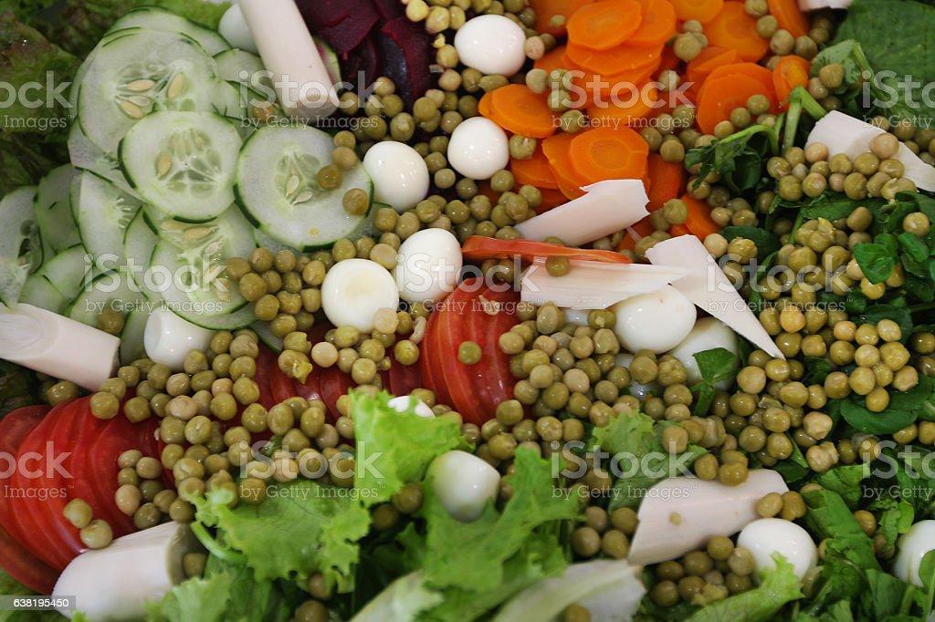 Salad with palmetto stock photo