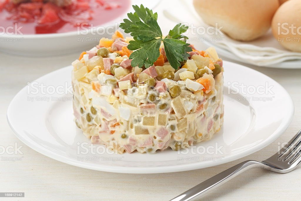 Salad with pea stock photo