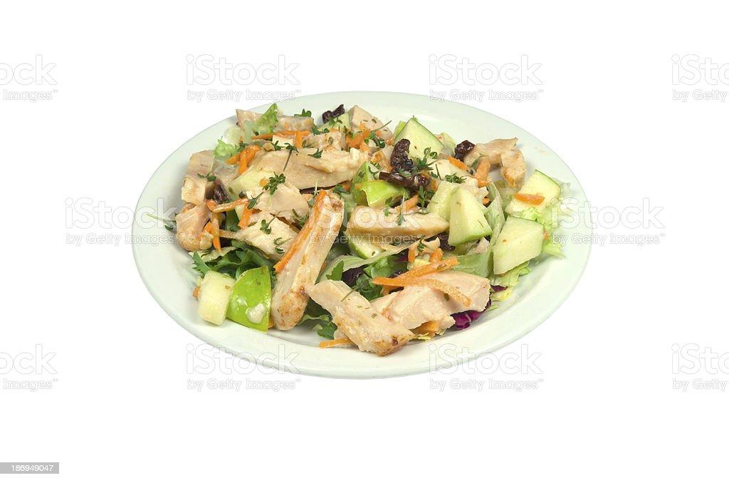 サラダ、燻製チキンストリップます。 ロイヤリティフリーストックフォト