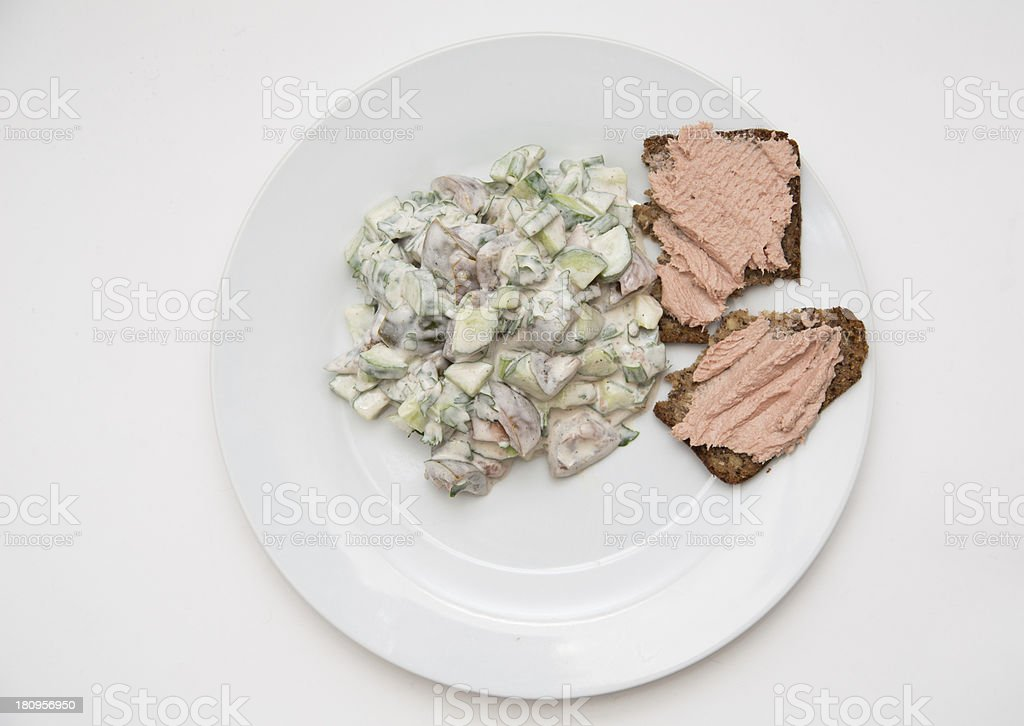 Salad With Spread Sandwich royalty-free stock photo