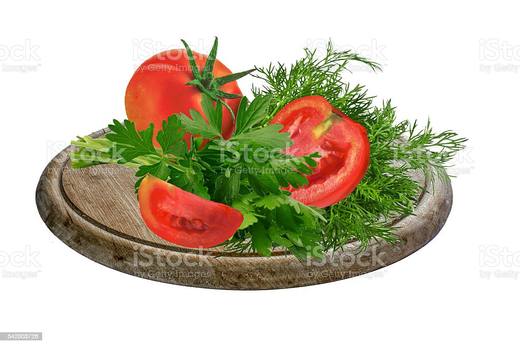 Salad with tomato and verdure stock photo