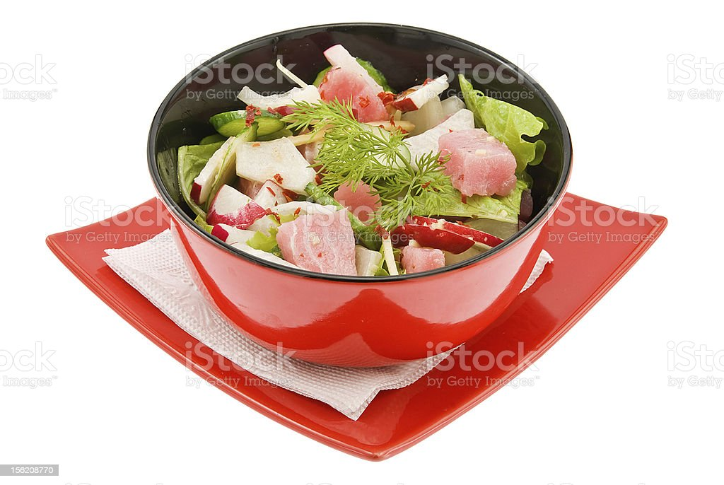 salad with tunny royalty-free stock photo