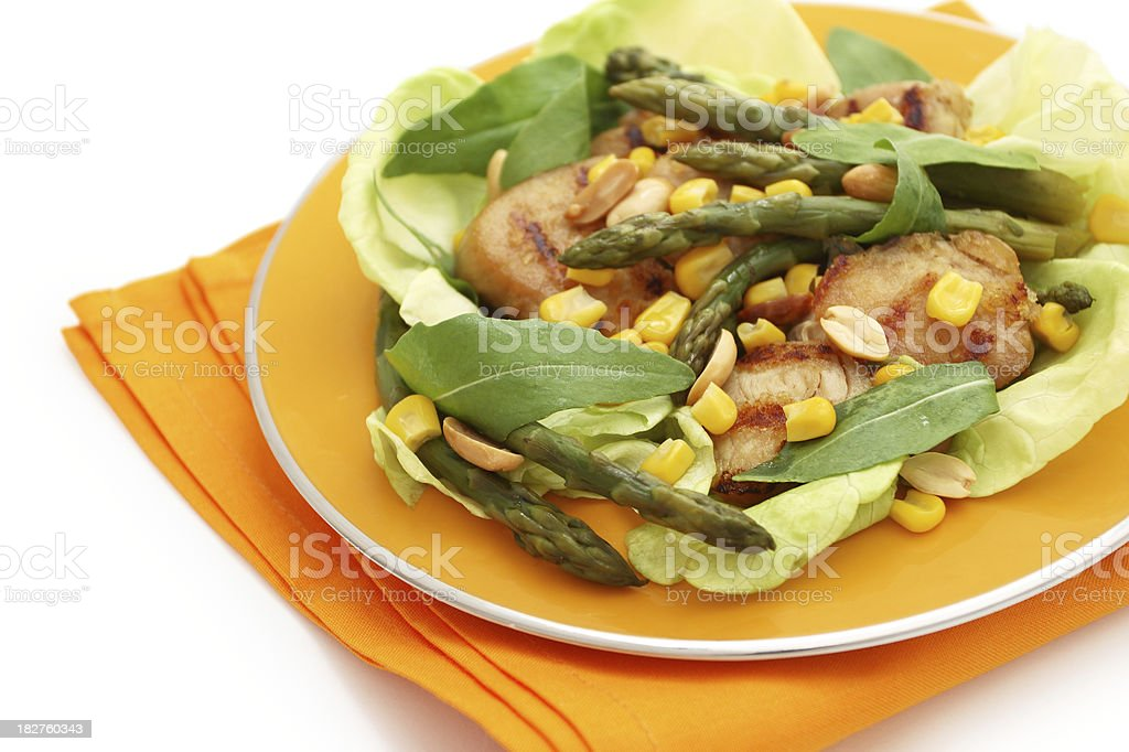 Salad with turkey. royalty-free stock photo